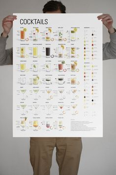 beautiful cocktail poster