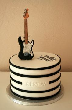I made this cake for my friends son's birthday who is a keen guitarist.