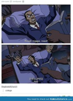I can't even. The Boondocks is too funny.
