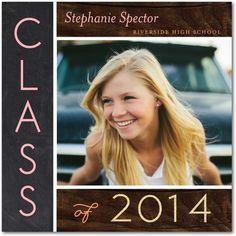 Natural Class - Graduation Announcements - simplyput by Ashley Woodman - Rose Pink #graduation #grad