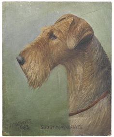 Irish Terrier Art by Henry Crowther