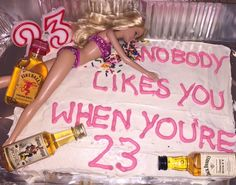 Nobody likes you when you're 23 Blink 182 Barbie birthday cake