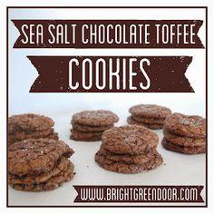 Sea Salt Chocolate Toffee Cookies