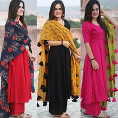 Bollywood Designer Slawar Kameez Indian Pakistani Wedding Party Wea r Suit SM Kurta Designs, Kurti Designs Party Wear, Latest Kurti Designs, Plain Kurti Designs, Pakistani Dresses, Indian Dresses, Indian Outfits, Stylish Dresses, Fashion Dresses