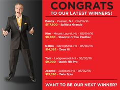 Want to win a $117,600 jackpot like Danny did?? You could be next!!