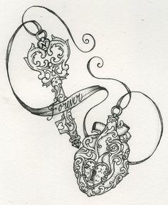 butterfly key tattoo - Google Search