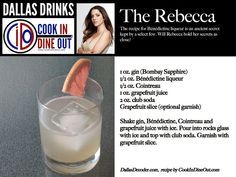 The Rebecca - A sweet drink with a bit of mystery, just like Christopher's wife. She later revealed her true colors (see The Rebecca)
