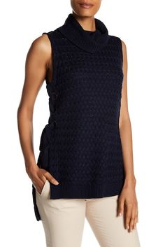 Image of Parker Lace-Up Sweater Tunic