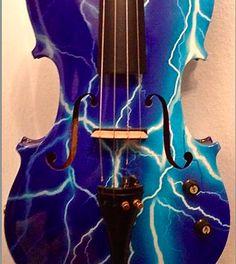 Blue Lightning Violin http://www.rozannasviolins.com