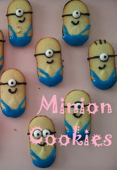 minion cookies, minion milano cookies, cookies. #minion #cookies