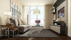 small condo living room                                                       …