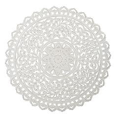 CARVE L round 115 cm white