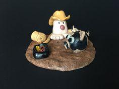 Rancher fairy garden gnome with cowboy hat by MacTiereLunaCreation