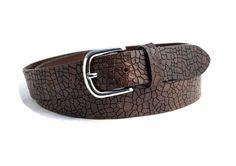 vintage leather croc jeans belt