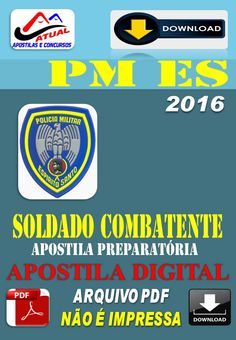 Apostila Digital Concurso PM ES Soldado Combatente 2016 Preparatoria