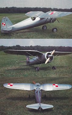 Scale Polish Pulawski PZL Plans, Templates and Instructions Fighter Aircraft, Fighter Jets, Rc Plane Plans, Us Air Force, Model Airplanes, Radio Control, World War Two, Flyers, Send Message