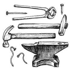depositphotos_52905429-Hand-drawing-tools-anvil-hammer-nails---Stock-Image.jpg (450×450)