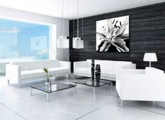 Perspex Art, black and white Lily flower. Kitchen and swimming pool art. White Lily Flower, White Lilies, White Acrylics, Cool Art, Swimming Pools, Black And White, Modern, Table, Furniture