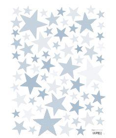 Stickers étoiles bleu My SuperStar baby blue