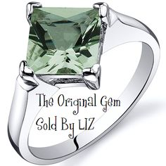 'Genuine Green Amethyst .925 Silver Ring Sz 5,6,9' is going up for auction at  9am Fri, Oct 12 with a starting bid of $1.