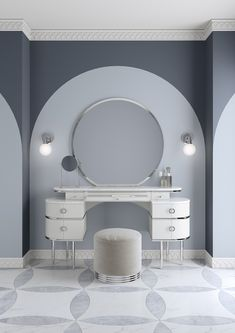 From Powder Pink to Cream White. New Look for Zelda by Devon&Devon The vanity table inspired by Zelda Fitzgerald femininity and charisma White Vanity Table, Vanity Tables, Dressing Table Design, Art Deco Dressing Table, Dressing Tables, Devon Devon, Home Room Design, Modern Room, Modern Decor