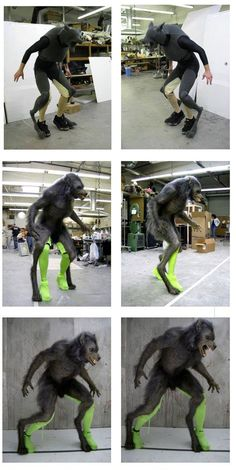 And, now you know how this was done (if you didn't already). #WerewolfWednesday