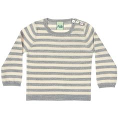 Striped blouse l.grey/ecru 62