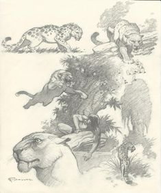 Cats From Outer Space by Mark Schultz Comic Art Gesture Drawing, Cat Drawing, Drawing Sketches, Sketching, Frank Frazetta, Animal Sketches, Animal Drawings, Cat From Outer Space, Creature Design