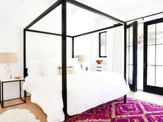 Boho meets modern in this gorgeous Brooklyn apartment makeover. Come take a look inside Dream Bedroom, Home Bedroom, Master Bedroom, Bedroom Decor, Shabby Bedroom, Pretty Bedroom, Shabby Cottage, Bedroom Inspo, Bedroom Ideas