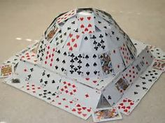 Image result for images of making houses with cards
