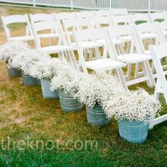 babys breath on planters wedding-ideas