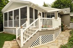 Screen Porch with Composite Decking