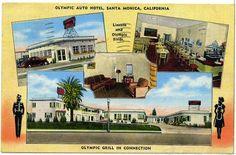 Route 66 Motels In Vintage Postcards