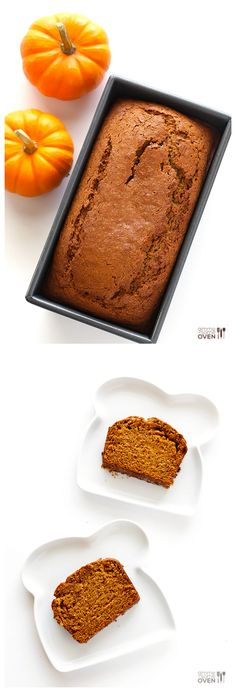 Coconut Oil Pumpkin Bread -- easy to make in one bowl, perfectly pumpkin-y, and so good!! | gimmesomeoven.com #bread #fall #baking #recipe
