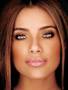 Ildi Silva, brazilian actress has the most incredible eyes and skin so I think I love this face alot.