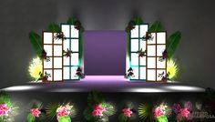 Diseño 3d escenografía tropical