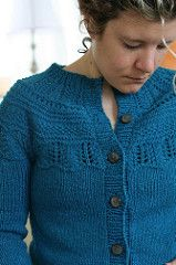 Ravelry: 113-17 jacket with pattern on yoke pattern by DROPS design