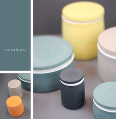 I love the matt ceramics, such great colours.