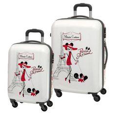 Conjunto de 2 maletas de viaje Disney modelo Minnie Couture