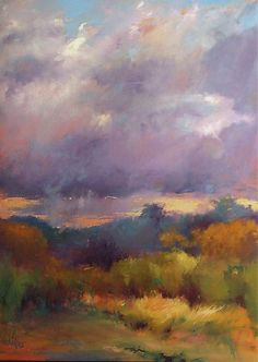 Madeline Dukes - 'Foggy Morning on the Ashepoo' - oil and oil stick on canvas