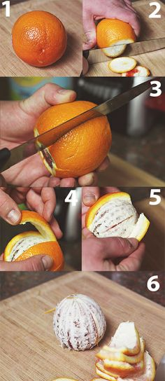 Peeling oranges: You're doing it wrong. Here's how to shave seconds off every peel, adding a YEAR to your life.*  (*if you spend your whole life peeling oranges.)