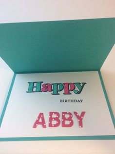 StampinUp Inside of the Sweet 16 Birthday card designed by demo Beth McCullough at www.StampingMom.com #StampingMom
