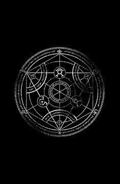 'Human transmutation circle - chalk' Art Print by R-evolution GFX Magic Symbols, Ancient Symbols, Viking Symbols, Evolution Tattoo, Symbole Protection, Witchy Wallpaper, Occult Tattoo, Blackout Tattoo, Anime Nerd