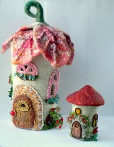 fairy homes with beads