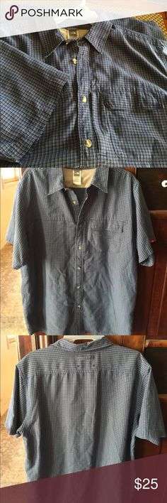 North Face Camp Shirt Large $25 The North Face Blue/Grey/White Camp Shirt Size L Excellent Condition $25 The North Face Shirts Casual Button Down Shirts