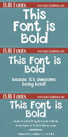 This Font is Bold. Display Fonts. $5.00