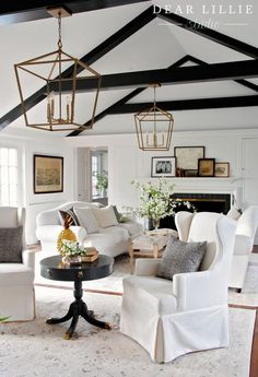 Vintage French Soul ~ Lanterns for our Living Room at Bluestone Hill - Dear Lillie Studio