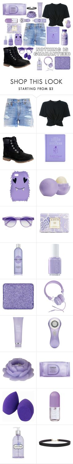 """""""Is this considered pastel goth?"""" by pumpkinseed112 ❤ liked on Polyvore featuring R13, T By Alexander Wang, Timberland, ASOS, Eos, Illesteva, Estée Lauder, Zoya, Baylis & Harding and Essie"""