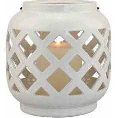 Better Homes and Gardens Small Cream Ceramic Lantern