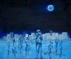 Days are rapidly getting dark, Monika Vitanyi, Slovakia. Dark Paintings, Original Paintings, Saatchi Art, The Originals, Night, Canvas, Day, Photography, Shades